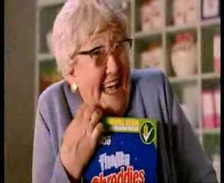 old woman shreddies